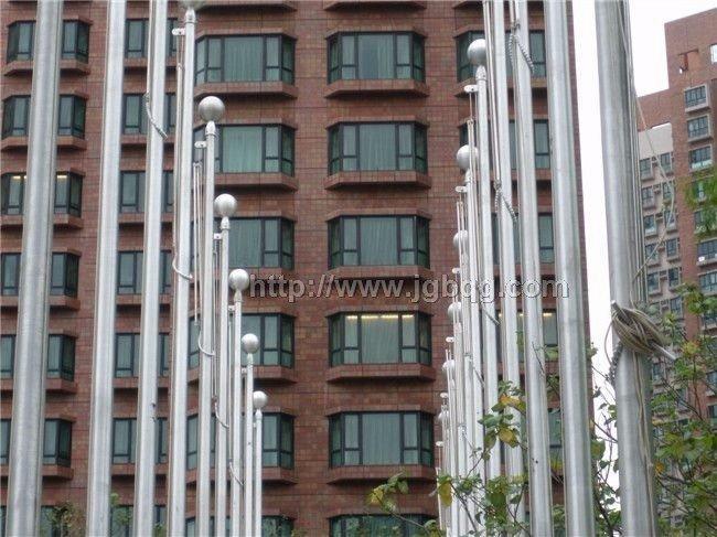香港奥运村铝合金旗杆工程