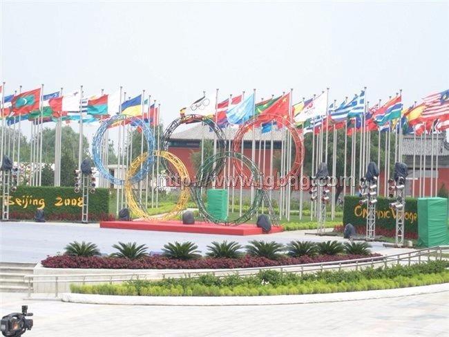 北京奥运村旗杆旗杆工程