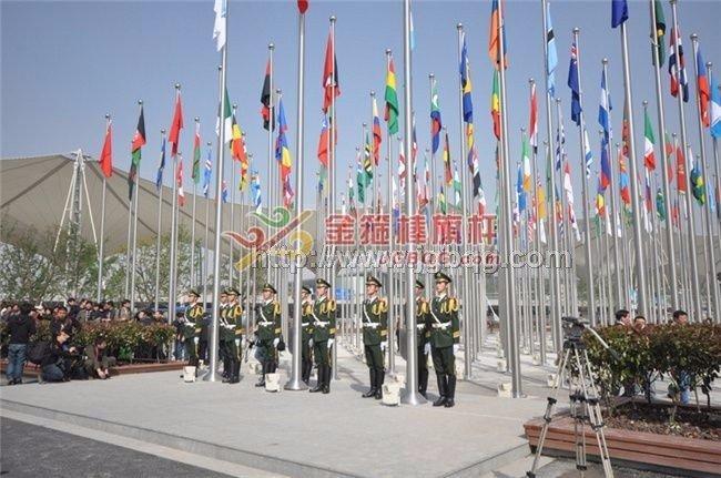 上海世博会旗林升旗仪旗杆工程