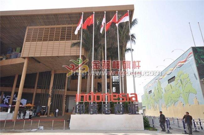 上海世博会展馆旗杆工程