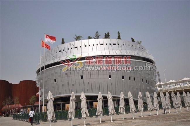上海世博会展馆旗杆工程2