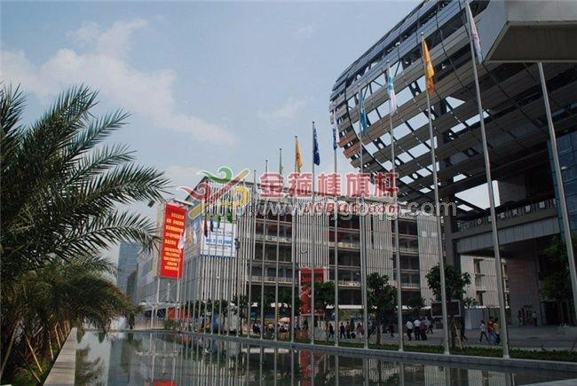 广州保利世贸广场13M旗杆工程