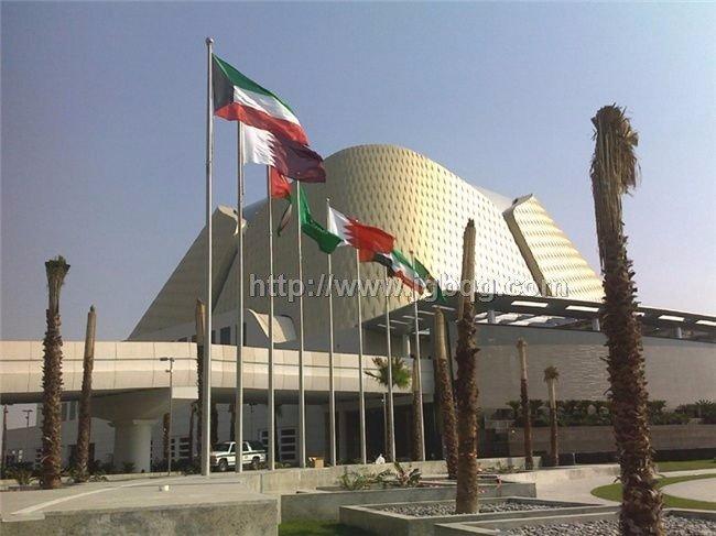 科威物新国际机场不锈钢旗杆工程