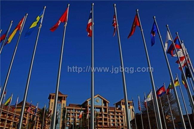 老挝亚州峰会旗杆旗杆工程