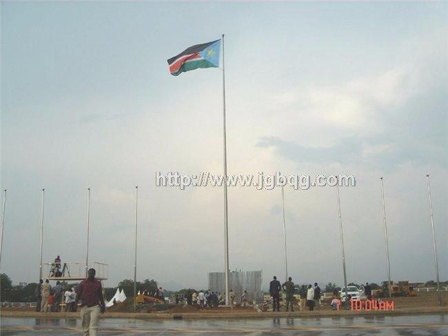 南苏丹建国庆典升旗旗杆工程
