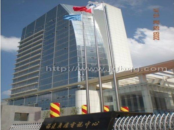 福建省广播电视大厦17.9米电动米旗杆案例