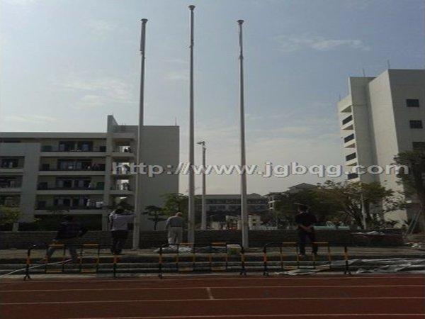 深圳宝安学校12米铝合金旗杆案例
